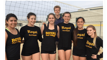 Royals First Girls Beach Volleyball Team~ Valerie, Emily, Kat, Riley, Daphne, Shannon